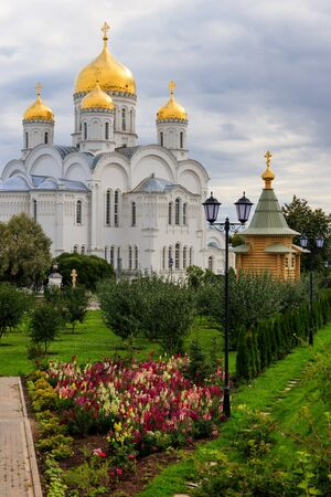 Transfiguration cathedral of Holy Trinity-Saint Seraphim-Diveyevo Monastery in Diveyevo, Russia