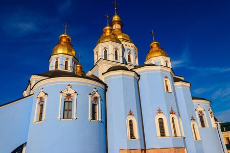 St. Michael's Golden-Domed Monastery in Kiev, Ukraine Banco de Imagens - 134838802