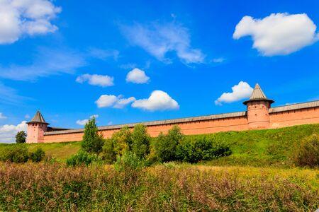Monastery of Saint Euthymius wall in Suzdal, Russia Banco de Imagens