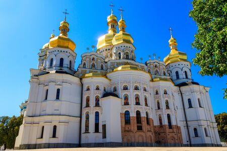 Dormition Cathedral of the Kiev Pechersk Lavra (Kiev Monastery of the Caves) in Ukraine Banco de Imagens - 134833882