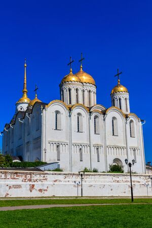 Dormition Cathedral (Assumption Cathedral) in Vladimir, Russia. Golden ring of Russia Banco de Imagens - 134842217