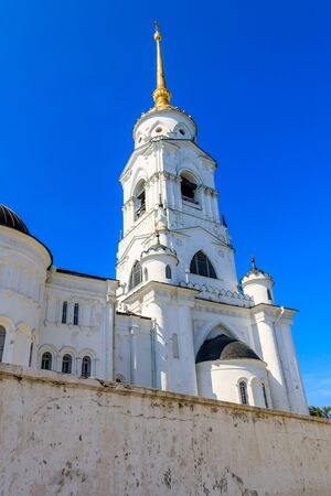 Bell tower of Dormition Cathedral (Assumption Cathedral) in Vladimir, Russia. Golden ring of Russia 版權商用圖片