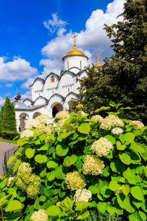 Intercession cathedral of Intercession (Pokrovsky) convent in Suzdal, Russia. Golden ring of Russia Banco de Imagens - 134842289