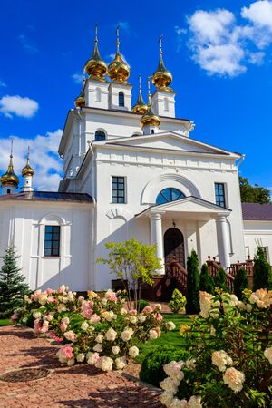 Holy Dormition Monastery in Ivanovo, Russia Banco de Imagens