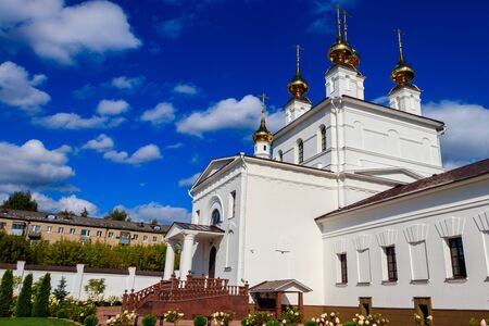 Holy Dormition Monastery in Ivanovo, Russia Banco de Imagens - 134833981
