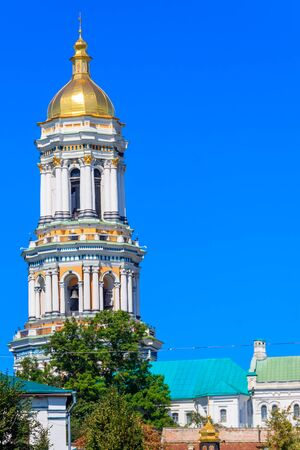 Great Lavra Bell Tower of the Kyiv Pechersk Lavra (Kiev Monastery of the Caves), Ukraine Banco de Imagens - 134833994