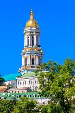 Great Lavra Bell Tower of the Kyiv Pechersk Lavra (Kiev Monastery of the Caves), Ukraine Banco de Imagens - 134842288