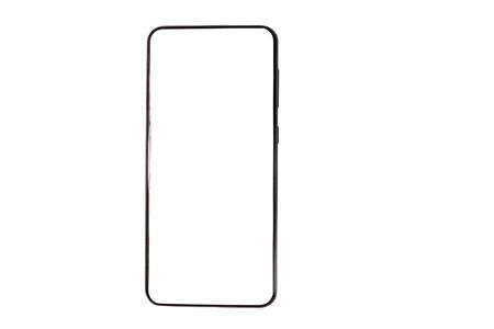Smartphone with blank screen isolated on a white background 写真素材 - 134842364