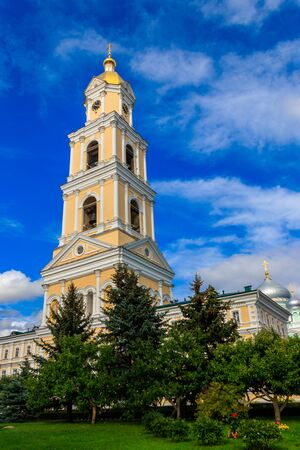 Bell tower of Holy Trinity-Saint Seraphim-Diveyevo Monastery in Diveyevo, Russia