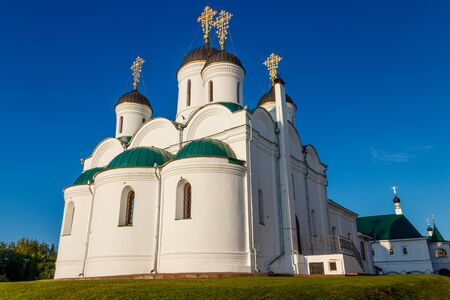 Transfiguration cathedral in Transfiguration monastery in Murom, Russia 写真素材 - 134842369