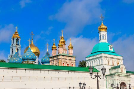 View of Trinity Lavra of St. Sergius in Sergiev Posad, Russia 写真素材 - 134842490
