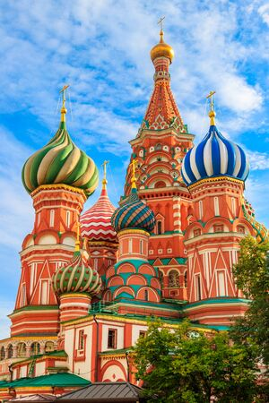 St. Basil's Cathedral on Red Square in Moscow, Russia 写真素材 - 134842489