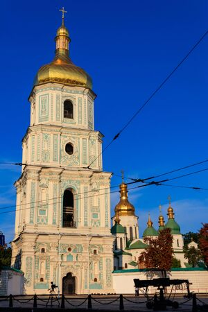 Bell tower of St. Sophia Cathedral in Kiev, Ukraine Banco de Imagens - 134842492