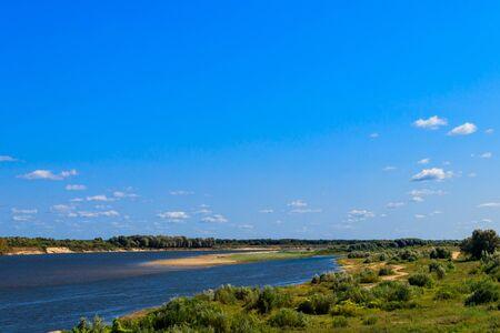 View of the Oka river in Russia 版權商用圖片