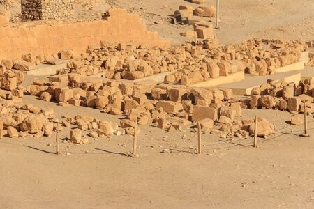 Archaeological site near the temple of Hatshepsut in Deir el-Bahri. Excavations of ancient Egypt on the West Bank of the Nile near Luxor (ancient Thebes) in Egypt