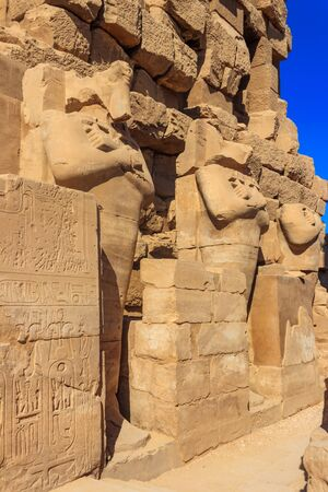 Karnak Temple Complex, commonly known as Karnak comprises a vast mix of decayed temples, chapels, pylons, and other buildings in Luxor, Egypt