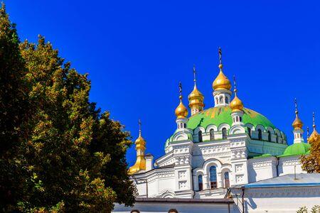 Refektorium-Kirche von Kiewer Höhlenkloster (Kiew Kloster der Höhlen) in der Ukraine Standard-Bild