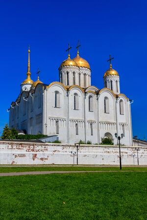 Dormition Cathedral (Assumption Cathedral) in Vladimir, Russia. Golden ring of Russia 写真素材