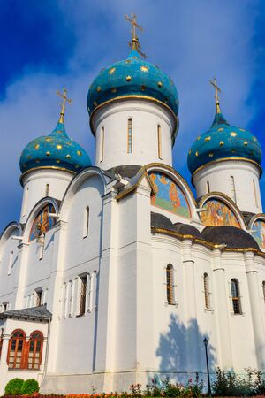 Assumption Cathedral of Trinity Lavra of St. Sergius in Sergiev Posad, Russia