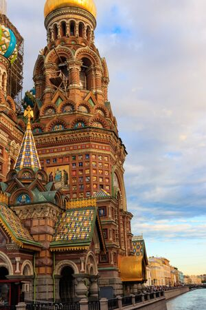 Church of the Savior on Spilled Blood or Cathedral of the Resurrection of Christ is one of the main sights of Saint Petersburg, Russia 写真素材