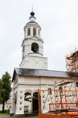 Bell tower of Vvedensky Tolga convent in Yaroslavl, Russia. Golden ring of Russia