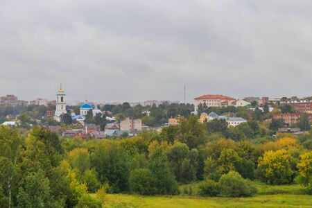 View of Serpukhov town in Russia 写真素材