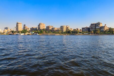 View of the Cairo city and Nile river in Egypt 写真素材