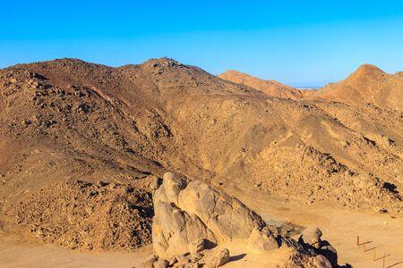 View of Arabian desert and mountain range Red Sea Hills in Egypt 写真素材