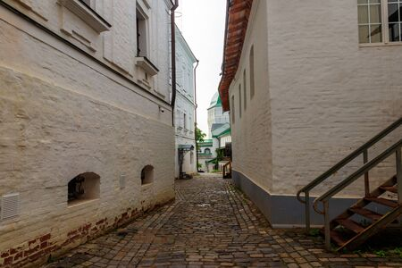 Old narrow street in Trinity Lavra of St. Sergius in Sergiev Posad, Russia Stock fotó
