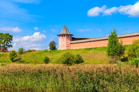 Monastery of Saint Euthymius wall in Suzdal, Russia