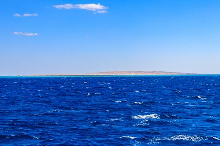 View of the Red sea in Hurghada, Egypt