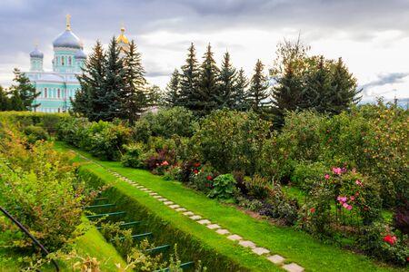 Holy Groove (Kanavka) in Holy Trinity-Saint Seraphim-Diveyevo Monastery in Diveyevo, Russia Banco de Imagens