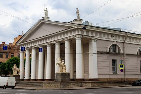 The Manege is a former riding hall for the Imperial Horse Guards fronting in Saint Petersburg, Russia. Built in 1804-07