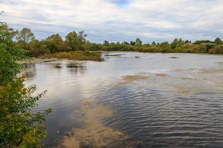 View of the Vichkinza river in Diveyevo, Russia Banco de Imagens
