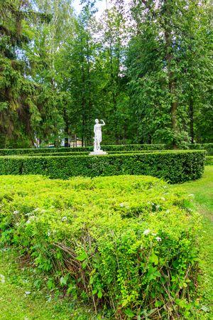Marble statue of Dancer in Pavlovsk park, Russia
