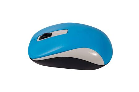 Computer wireless mouse isolated on a white background 版權商用圖片