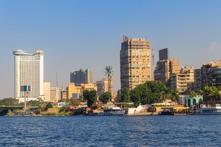 View of the Cairo city and Nile river in Egypt