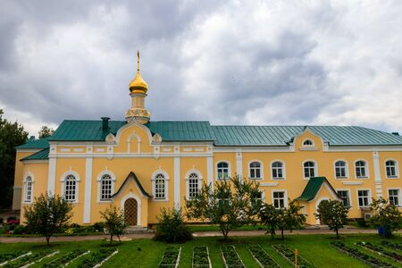 """Church in honor of the Icon of the Blessed Virgin Mary """"Healer"""" in Holy Trinity-Saint Seraphim-Diveyevo convent in Diveyevo, Russia"""