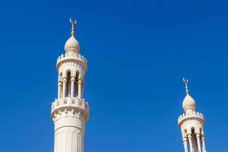 Minaret of Central mosque in Hurghada, Egypt