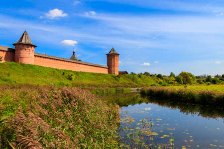 Monastery of Saint Euthymius wall in Suzdal, Russia Imagens
