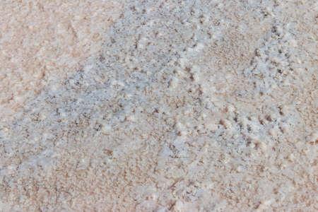 Natural salt crystal texture, macro, close-up. Salty lake shore background 写真素材 - 152418899