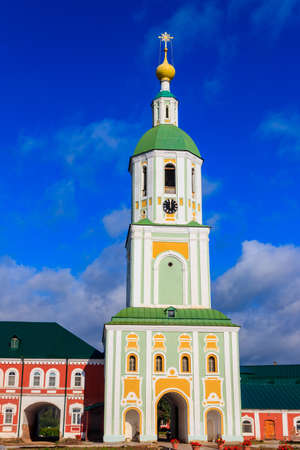 Bell tower of Sanaksar monastery of the Nativity of the Mother of God in Temnikov, Republic Mordovia, Russia