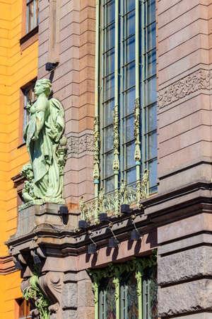 Eliseyev Emporium (Eliseevsky, Elisseeff brothers' shop) on Nevsky Prospekt in St. Petersburg, Russia. Built in 1902-1903 写真素材 - 152440266