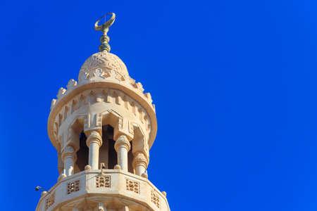 Minaret of Central mosque in Hurghada, Egypt Archivio Fotografico