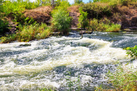 Rapids on the Inhulets river in Kryvyi Rih, Ukraine Stock Photo