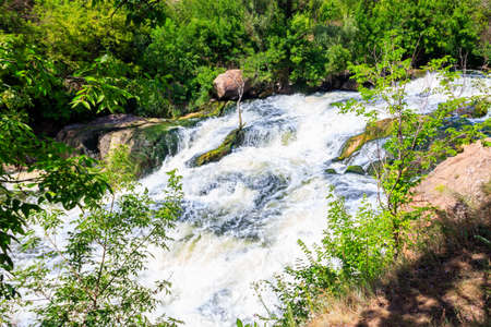 Rapids on the Inhulets river in Kryvyi Rih, Ukraine 版權商用圖片