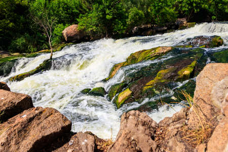 Rapids on the Inhulets river in Kryvyi Rih, Ukraine 写真素材