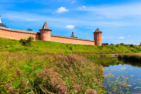Monastery of Saint Euthymius wall in Suzdal, Russia 写真素材