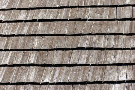 Background of the old wooden shingles roof