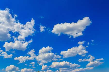 White clouds in blue sky 写真素材